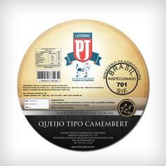 Cheese Label . Laticínios PJ by Franco Terranova, via Behance