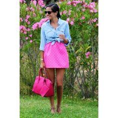 Falda flúor rosa