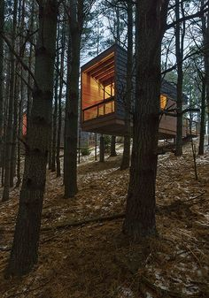 Architecture MN covers the minimalist camper cabins designed by HGA at Whitetail Woods Regional Park in the Jul/Aug 2015 issue. Photo © Paul Crosby