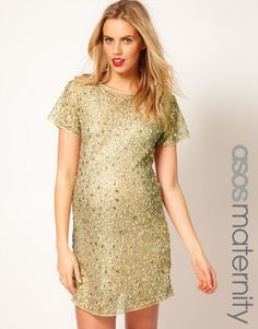 Keep sparkling while you're pregnant! Maternity Dress.