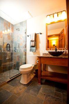 Bathroom - traditional - basement - minneapolis - Lifestyle Basements