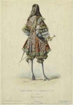 1672 Mens Fashion - Gentilhomme de la maison du Roy - époque Louis XIV