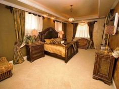 12 Best Tuscan Style Bedrooms images   Dream bedroom, Antique beds ...