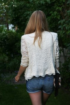 simple shorts with a pretty blazer
