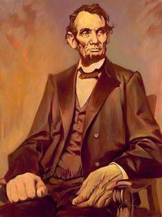 Gabe Leonard: Lincoln #OilPainting #Art