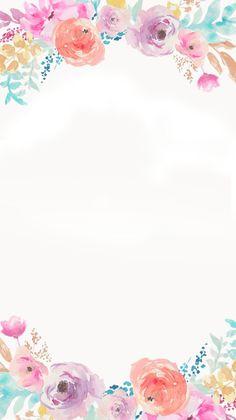 Xime invitación Flower Backgrounds, Flower Wallpaper, Wallpaper Backgrounds, Iphone Wallpaper, Watercolor Flowers, Watercolor Art, Invitation Fete, Foto Transfer, Background Pictures
