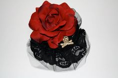 Harmony Walker Red Rose Skull and Crossbones Mini by HarmonyWalker, $19.60 Skull And Crossbones, Fascinators, Red Roses, Hair Accessories, My Style, Mini, Decor, Dekoration, Decoration