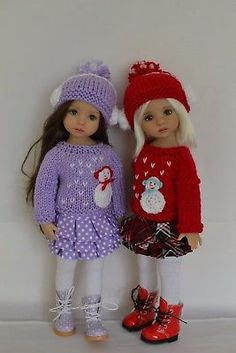 """Outfit-for-Little-Darling-Dolls-13"""" Dianna-Effner-Snowman"""