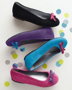 Italian Everyday Ballet Flats, Sizes 08-4 - Garnet Hill black AVA
