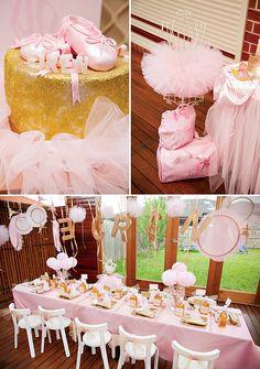 Pink & Gold Ballerina Party {4th Birthday}