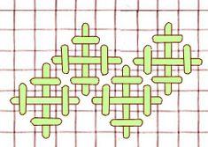 Jerusalem Cross or Upright rice stitch