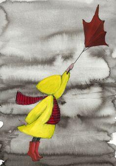 A4 Art Print   My Umbrella