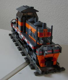 Just a small shunter, not based on something particular. Toys For Boys, Boy Toys, Lego Kits, Lego Trains, Train Engines, Lego Design, Rolling Stock, Lego Projects, Custom Lego