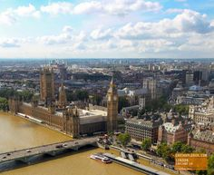 Great View from the London Eye - England