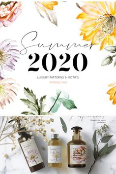Summer 2020, Bold yet elegant hand painted water colour florals in vibrant colors and textures. Presenting you with unique staple florals for Spring summer 2020 for your collections of exquisite products!