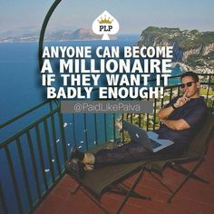 Are you ready to become a MULTI MILLIONAIRE on the NET? #anyonecan  Stop struggling and Start Producing! Let us show you HOW!! Make sure to follow @paidlikepaiva  #paidlikepaiva #millionaire #multimillionaire #lifestyle #retireyoung #boss #onlinemarketing #stopstruggling #getanswers #producer #fireyourboss #quityourjob #beast #hustle #hustler  http://paidlikepaiva.com
