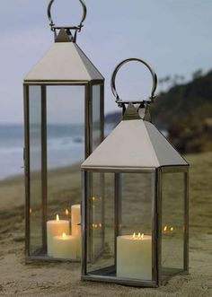 Shine a romantic light on your outdoor space with the timeless Galveston Stainless Steel Lantern that's constructed from marine-grade stainless steel to withstand the harshest of elements.
