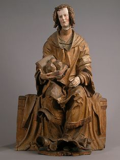 Saint Stephen,by Hans Leinberger,German.  ca 1525-30  Made in Lower,Bavaria  Limewood with traces of paint.