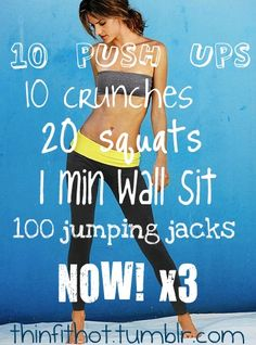 Make that 50 crunches.
