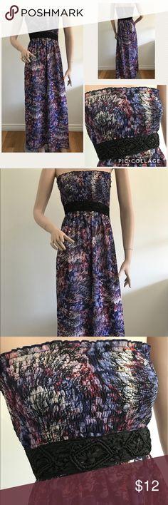 2Be Bebe Maxi Dress Empire waist strapless Maxi Dress. Fully lined. Summer easy comfort. bebe Dresses Maxi