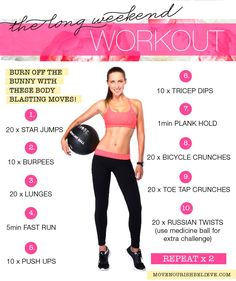 Let's Work Out! xx http://www.movenourishbelieve.com/move/post-easter-workout/
