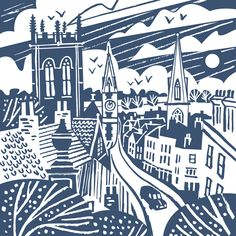 Dorchester illustration by Matt Johnson for a Seasalt screen printed tote bag. #dorchester #dorset #travelposter #screenprint #totebag #illustration