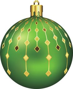 Large Transparent Green Christmas Ball Clipart