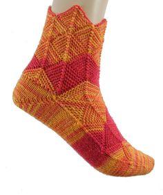 Fairytale socks Pink Orange size EU 36   UK  by Carolinevantveer, $25.00