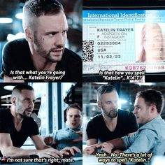 """""""Is that how you spell 'Katelin'... K-A-T?"""" - Hunter and Fitz #AgentsOfSHIELD"""