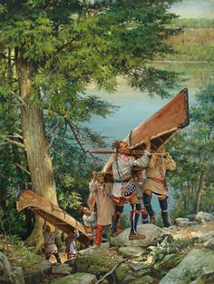 A contemporary painting by Robert Griffing of century Eastern Woodland Indians Native American Paintings, Native American Artists, Native American History, Pierre Brice, Woodland Indians, Into The West, American Indian Art, American Indians, American Frontier