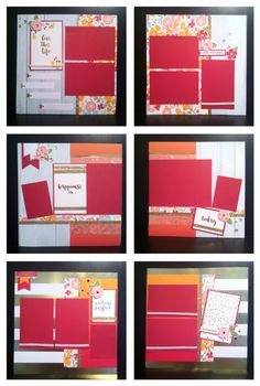 Ctmh happy times may 2016 nsm scrapbook layouts