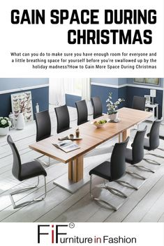 How to Gain More Space During Christmas - How to Gain More Space During Christmas Having enough space in the home is always a concern, but when Christmas comes, it suddenly becomes a critical Dining Room Furniture, Christmas Christmas, Space Saving, Gain, Dining Table, Home Decor, Xmas, Decoration Home, Room Decor