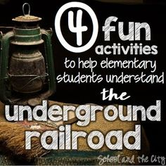 Do you teach the underground railroad? Read this blog post for fun and engaging social studies ideas that your students will learn a lot from! (read -- School and the City: Exploring the Underground Railroad)