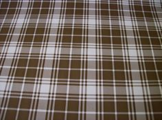 Vintage Contact Paper 1960s 60s 1970s 70s Plaid Checkered Brown and White Neutral Decorative Adhesive Covering Wallpaper Contact Paper