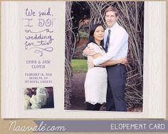 Elopement Wedding Thank You Newlywed