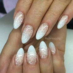 100 Best and beautiful almond glittery nail ideas color & design