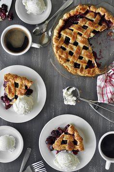 Cherry Almond Pie #recipe
