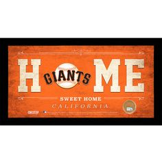 San Francisco Giants Home Sweet Home Sign with Game-Used Dirt from AT&T Park by Steiner Sports - MLB.com Shop