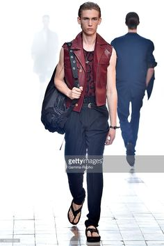A model walks the runway during the Lanvin Ready to Wear Menswear Spring/Summer 2016 show as part of Paris Fashion Week on June 28, 2015 in Paris, France.