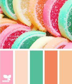 Colour combination for a quilt