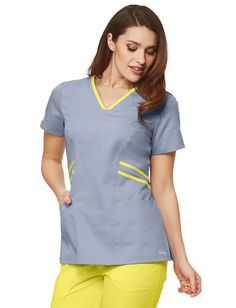 Grey's Anatomy Marquis V-Neck Scrub Top Spa Uniform, Hotel Uniform, Nursing Scrubs, Medical Scrubs, Medical Uniforms, Work Uniforms, Cleaning Uniform, Scrubs Pattern, Stylish Scrubs