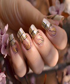 Cute nail art design.