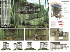 Architecture House Competition futuristic treehouse. Команда: tomas gurcinas | archprojects
