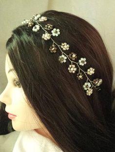 Joyas de novia pelo joyas Diadem tiara horquillas para ponérmelo velo