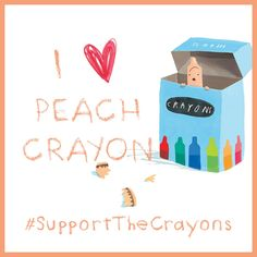 I support Peach Crayon! #penguinkids #SupportTheCrayons