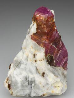 Corundum (Ruby) - Hunza Valley, Gilgit District, Pakistan.