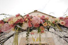 Floral wedding arch  by Michela & Michela www.italianweddingcompany.com