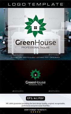 Green House Logo — Vector EPS #travel #apartment • Available here → https://graphicriver.net/item/green-house-logo/11776571?ref=pxcr