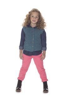 Free Crochet Pattern L40401 Next Generation Vest : Lion Brand Yarn Company