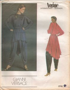 Vintage 1980s Vogue International Designers Pattern by CloeCessna, $26.00